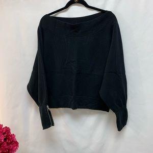 Women's Free People Dolman Sleeve Zipper Sweater